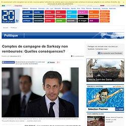 Comptes de campagne de Sarkozy non remboursés: Quelles conséquences?