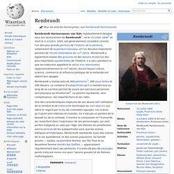 Wikipedia Rembrandt