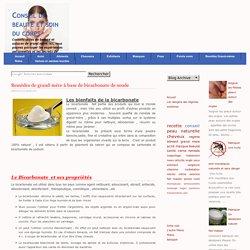 Remèdes de grand-mère à base de bicarbonate de soude-conseil-beauté