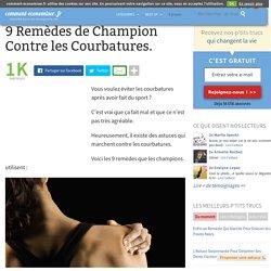 9 Remèdes de Champion Contre les Courbatures.
