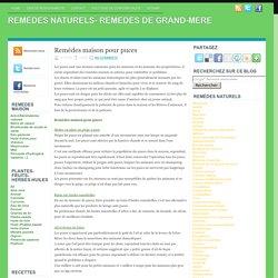 Remèdes maison pour puces ~ REMEDES NATURELS- REMEDES DE GRAND-MERE