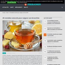 Remèdes naturels pour une bronchite