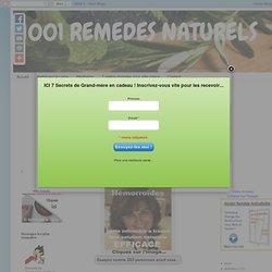 Remède naturel hémorroïdes