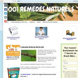 1001 REMEDES NATURELS: 5 mauvaises herbes qui font du bien