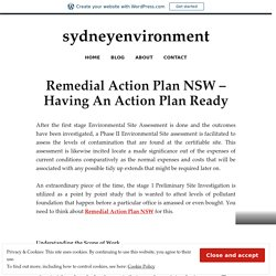 Remedial Action Plan NSW – Having An Action Plan Ready