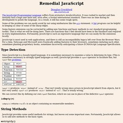 Remedial JavaScript