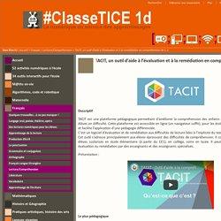 TACIT, un outil d'aide à l'évaluation et à la remédiation en compréhension de lecture