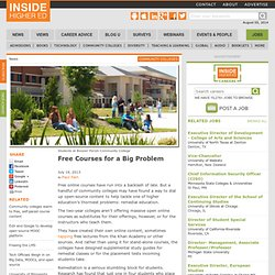 Two-year colleges go open source to seek fix for remediation