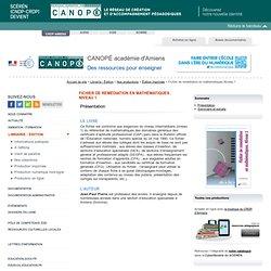 Fichier de remédiation en mathématiques.Niveau 1 - CANOPÉ Académie d'Amiens