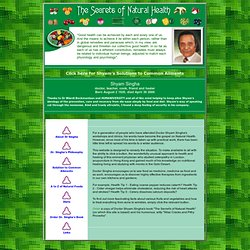 Health care and healthy remedies to the most common ailments using natural and everyday food and diet