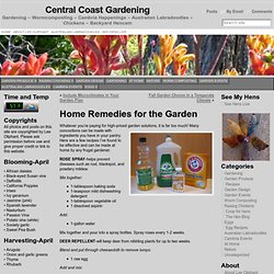 Home Remedies for the Garden « Central Coast Gardening