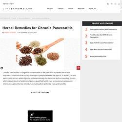 Herbal Remedies for Chronic Pancreatitis
