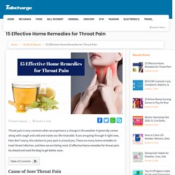Effective Home Remedies for Throat Pain