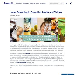 What are the best home remedies to grow hair faster and thicker – Re'equil
