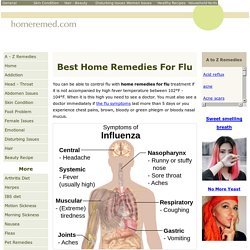 Seasonal Influenza Treatments