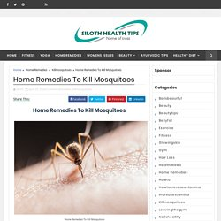 Home Remedies To Kill Mosquitoes - Siloth Health Tips