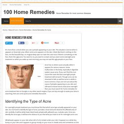 Home Remedies for Acne - Natural ayurvedic home remedies for acne