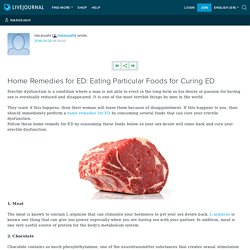 Home Remedies for ED: Eating Particular Foods