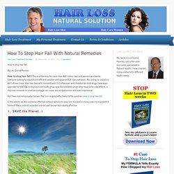 How To Stop Hair Fall With Natural Remedies