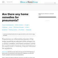 Home remedies for pneumonia: 12 ways to ease symptoms naturally