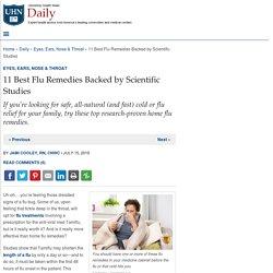 11 Best Flu Remedies Backed by Scientific Studies