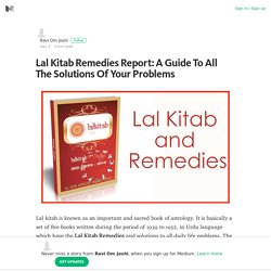 Lal Kitab Remedies Report: A Guide To All The Solutions Of Your Problems