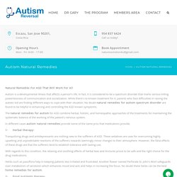 Find Natural Remedies for Autism