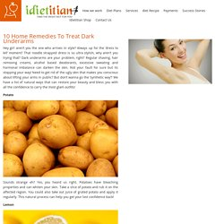 10 Home Remedies To Treat Dark Underarms – Idietitian Blog