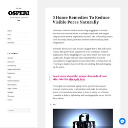 5 Home Remedies To Reduce Visible Pores Naturally -