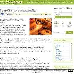 Remedios para la amigdalitis