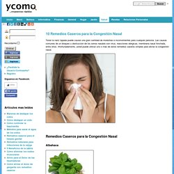 10 Remedios Caseros para la Congestión Nasal