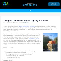 Things To Remember Before Aligning A TV Aerial