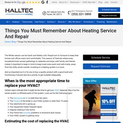 Things You Must Remember About Heating Service And Repair