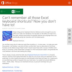 Can't remember all those Excel keyboard shortcuts? Now you don't have to!