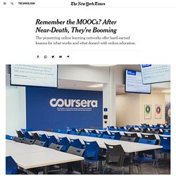 Remember the MOOCs? After Near-Death, They're Booming