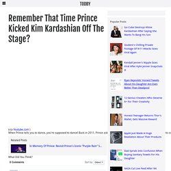 Remember That Time Prince Kicked Kim Kardashian Off The Stage?