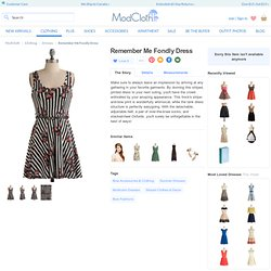 Remember Me Fondly Dress | Mod Retro Vintage Printed Dresses