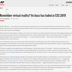 Remember virtual reality? Its buzz has faded at CES 2019