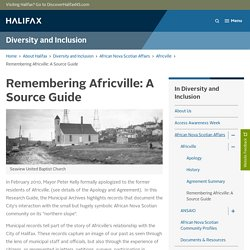 Remembering Africville