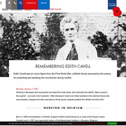 Remembering Edith Cavell