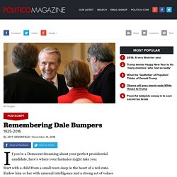 Remembering Dale Bumpers