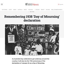 Remembering 1938 'Day of Mourning' declaration