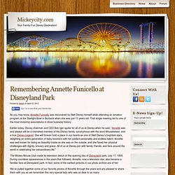 Remembering Annette Funicello at Disneyland Park