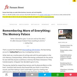 Remembering More of Everything: The Memory Palace