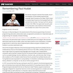 Remembering Paul Hudak