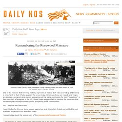 Remembering the Rosewood Massacre