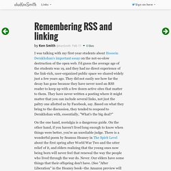 Remembering RSS and linking