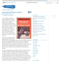 Remembering Seymour Papert « LRB blog