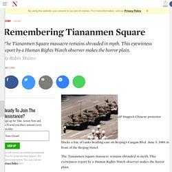 Remembering Tiananmen Square