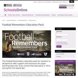 Football Remembers Education Pack